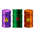 oil drums container fuel cask storage rows steel vector image