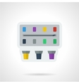 Paint box flat color icon vector image