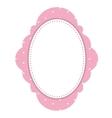 pink elegant frame icon vector image