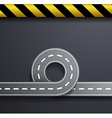 road on a gray background vector image