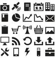 Set internet icons vector image