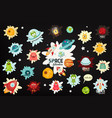 space labels set vector image