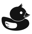 Duck icon in simple style vector image
