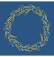 wreath bread blue vector image