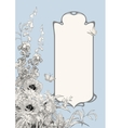 Art Deco Frame Botanical Composition vector image
