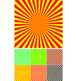 set of different colour rays vector image