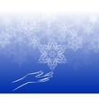 Touch snowflake background vector image