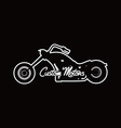 custom motorcycle chopper bike vector image