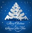 New Year card with Christmas tree vector image vector image