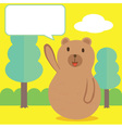 Bear Talk vector image