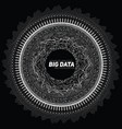 Big data circular grayscale vector image