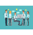 Business professional work team Meeting office vector image