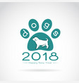 dog 2018 new year card logo dog vector image