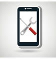 smartphone tools icon vector image