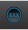 web button with xxx sign vector image