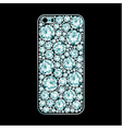 Diamond covered phone case vector image