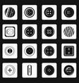clothes button icons set squares vector image