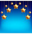 cartoon stars on blue sky background vector image