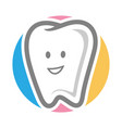 dental logo template image vector image