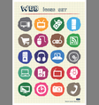 Household appliances and electronics web icons set vector image