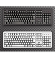 Keyboard Realistic Black White Icons Symbol vector image