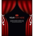playbill with curtain theater stage vector image