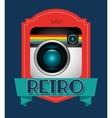 retro camera design vector image