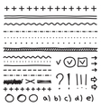 Set of hand drawing elements for edit and select vector image