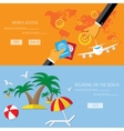 travel and beach relax vector image