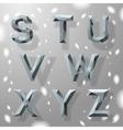 Trendy grey fractal geometric alphabet part 3 vector image