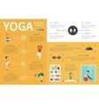 Yoga infographic flat vector image