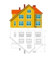 House icon and drawing vector image