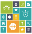 icons plain tablet sport vector image