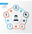 People icons set collection of running scientist vector image