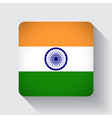 Web button with flag of India vector image