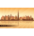 Dubai Downtown City skyline silhouette background vector image vector image