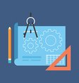 Project development concept Flat design Isolated vector image