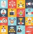 Set of Human Resources Management icons vector image vector image