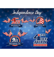 Independence Day Badge Collection vector image