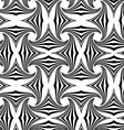 Black and white striped pin wheel vector image