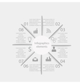 Infographics business elements vector image vector image