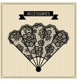 Accessories Vintage lace background floral vector image