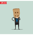 Cartoon Business man with paper bag - - EPS1 vector image