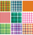 checkered print vector image