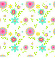 colorful flowers spring seamless pattern vector image