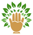 hand tree symbol vector image