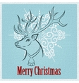 Merry Christmas Reindeer vector image