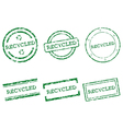 Recycled stamps vector image