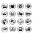 Shopping Icons Gray round buttons new vector image