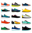 sneaker shoes collection vector image